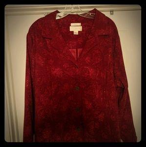 CJ Banks Red Jacket, Size 24/26